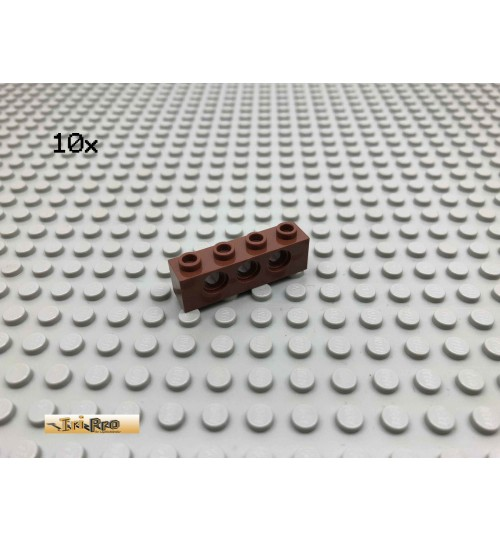 LEGO® 10Stk Technic 1x4 Loch Stein Brick Rotbraun, Reddish Brown 3701 78