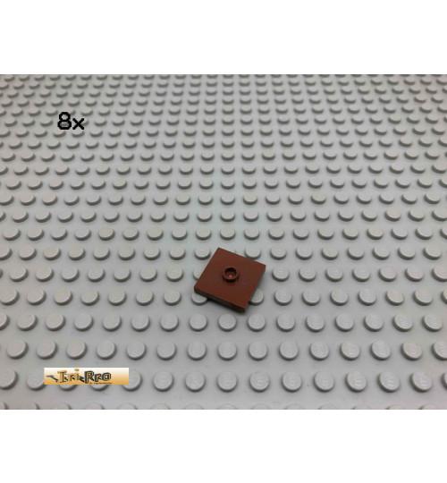 LEGO® 8Stk 2x2 Fliese mit 1 Noppe mittig Brick Rotbraun, Reddish Brown 87580 114