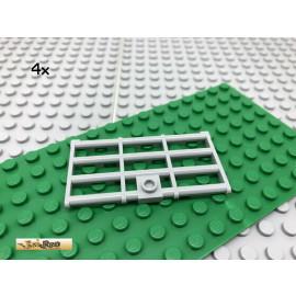 LEGO® 4Stk 1x2 Gittertür Tür Gefängnis Neues Hellgrau 60621