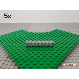 LEGO® 5Stk Technic Lochstein 1x8 neu-hellgrau 3702