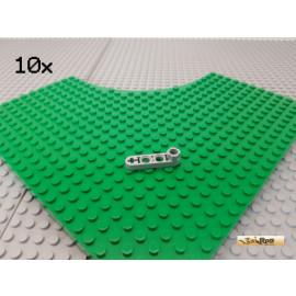 LEGO® 10Stk Technic Liftarm flach 1x4 mit Noppenverbinder neu-hellgrau 2825