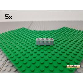 LEGO® 5Stk Technic Lochstein 1x4 neu-hellgrau 3701