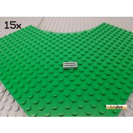 LEGO® 15Stk Gitterfliese 1x2 neu-hellgrau 2412