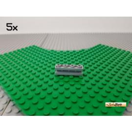 LEGO® 5Stk 1x4 mit Führungsschiene / Nut  neu-hellgrau 2653