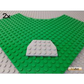 LEGO® 2Stk Platte / Flügelplatte 4x6 diagonale Ecken neu-hellgrau 32059