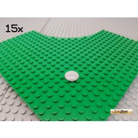 LEGO® 15Stk Teller / Gleiter 2x2 rund neu-hellgrau 2654
