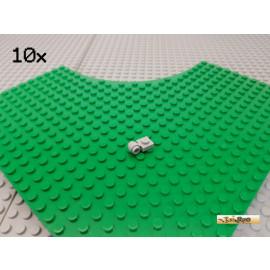 LEGO® 10Stk Platte 1x1 modifiziert mit Ring / Öse neu-hellgrau 4081b