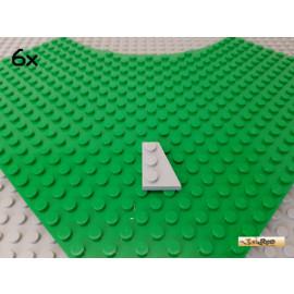 LEGO® 6Stk Flügelplatte / Keilplatte rechts 2x3 neu-hellgrau 43722