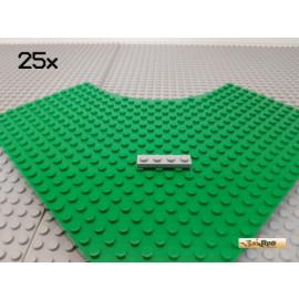 LEGO® 25Stk Platte 1x4 neu-hellgrau 3710