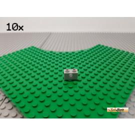 LEGO® 10Stk Technic Lochstein 1x2 neu-hellgrau 3700