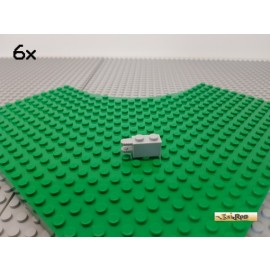 LEGO® 6Stk 1x2 modifiziert Rastergelenk / Schanier neu-hellgrau 30540