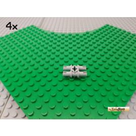 LEGO® 4Stk Technic Pin doppelt / Verbinder neu-hellgrau 32138