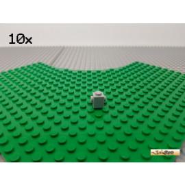 LEGO® 10Stk 1x1 mit 2 Noppen auf der Seite neu-hellgrau 47905