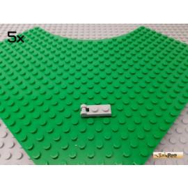 LEGO® 5Stk Platte 1x2 modifiziert mit Scharnier/Griff neu-hellgrau 60478