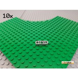 LEGO® 10Stk Technic Liftarm flach 1x3 neu-hellgrau 6632