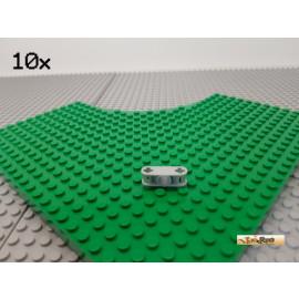 LEGO® 10Stk Achs Pin Verbinder 3-fach mit Kreuzloch neu-hellgrau 32184