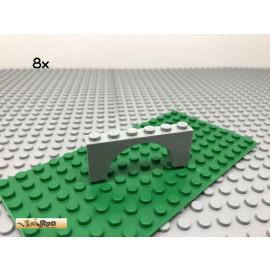 LEGO® 8Stk 1x6 Bogenstein Brücke Bogen Neues Hellgrau 15254