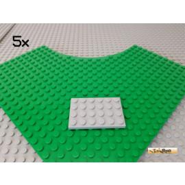 LEGO® 5Stk Platte 4x6 neu-hellgrau 3032