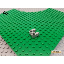 LEGO® 4Stk Technik Achse / Pin Verbinder doppelt neu-hellgrau 41678