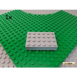LEGO® 1Stk Basicstein 4x6 Platte neu-hellgrau 44042
