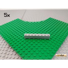 LEGO® 5Stk 1x8 Basicstein neu-hellgrau 3008