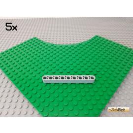 LEGO® 5Stk Technic Liftarm 9 Loch neu-hellgrau 40490