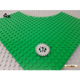 LEGO® 4Stk Technic Zahnrad mit Krone 24 Zähne neu-hellgrau 3650
