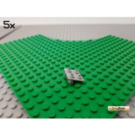 LEGO® 5Stk Platte 2x2 modifiziert Scharnier neu-hellgrau 6134