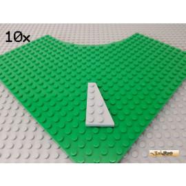 LEGO® 10Stk Flügelplatte / Keilplatte rechts 3x6 neu-hellgrau 54383