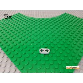 LEGO® 5Stk Technic Liftarm flach 1x2 neu-hellgrau 41677
