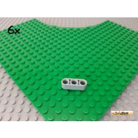LEGO® 6Stk Technic Liftarm 3 Loch 1x3 neu-hellgrau 32523