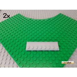 LEGO® 2Stk Platte 2x8 mit Führungsschiene neu-hellgrau 30586