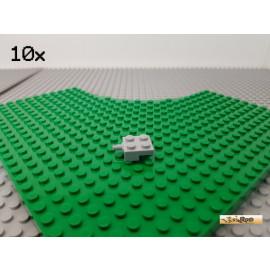 LEGO® 10Stk Platte 2x2 modifiziert Einachser neu-hellgrau 4488
