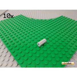 LEGO® 10Stk Technic Achs Verbinder Hülse gerade neu-hellgrau 6538c