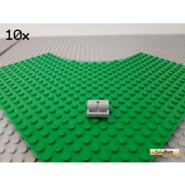 LEGO® 10Stk Platte 2x2 mit 2 Achslöcher / Pinlöcher neu-hellgrau 2817
