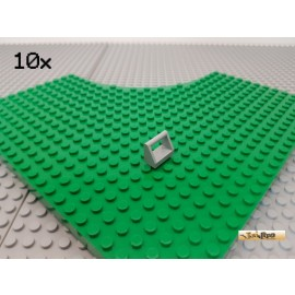 LEGO® 10Stk Fliese 1x2 modifiziert mit Griff/Bügel neu-hellgrau 2432