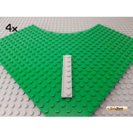 LEGO® 4Stk Platte 1x8 mit Führungsschiene neu-hellgrau 4510