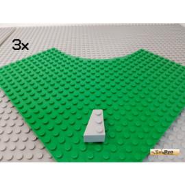 LEGO® 3Stk Keilstein 3x2 links neu-hellgrau 6565