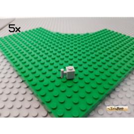 LEGO® 5Stk Stein 1x1 modifiziert mit Griff neu-hellgrau 2921