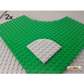 LEGO® 2Stk Platte 6x6 Ecke abgerundet neu-hellgrau 6003