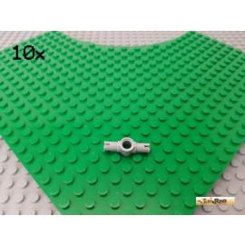 LEGO® 10Stk Pin Verbinder doppelt 2x Pin und 1x Pinloch neu-hellgrau 87082
