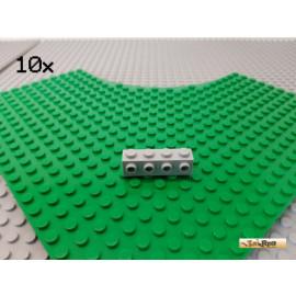 LEGO® 10Stk 1x4 Stein mit 4 Noppen seitlich neu-hellgrau 30414