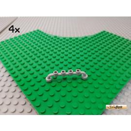 LEGO® 4Stk Absperrung / Zaun 1x6 neu-hellgrau 6140