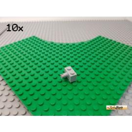 LEGO® 10Stk 1x2 modifiziert mit Pin neu-hellgrau 2458