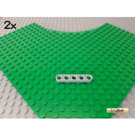 LEGO® 2Stk Technic Liftarm flach 5 loch neu-hellgrau 32017