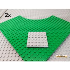 LEGO® 2Stk Platte 6x6 neu-hellgrau 3958