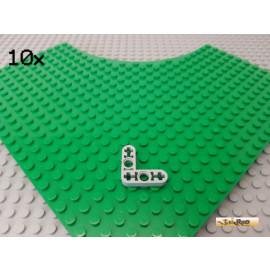 LEGO® 10Stk Technic Liftarm flach L-förmig 90° Winkel neu-hellgrau 32056