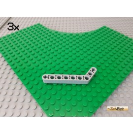 LEGO® 3Stk Technic Liftarm 1x9 gebogen / Winkel neu-hellgrau 32271