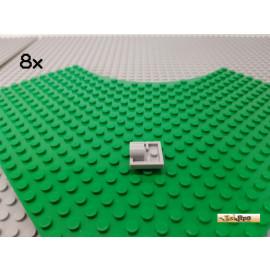 LEGO® 8Stk Platte 2x2 modifiziert mit einer Lochhülse neu-hellgrau 2444