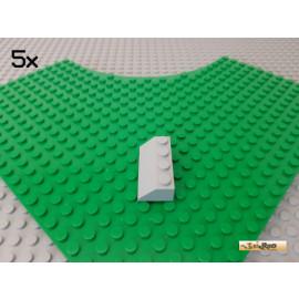 LEGO® 5Stk Dachstein / Schrägstein 2x4 45° neu-hellgrau 3037